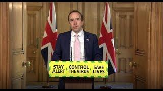 Live: Health secretary Matt Hancock leads the daily government coronavirus briefing | ITV News