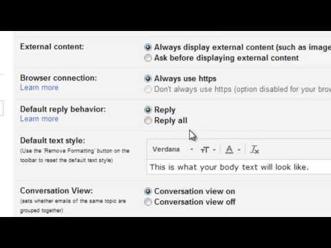 Change Gmail Default Text