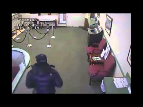 Rochelle Park police surveillance video of the Feb. 19, 2015 bank robbery.