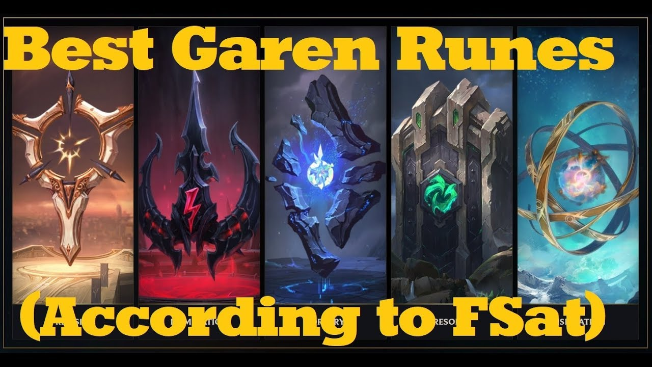 My Top 3 Rune Pages For Garen League Of Legends Patch 722 Pre S8