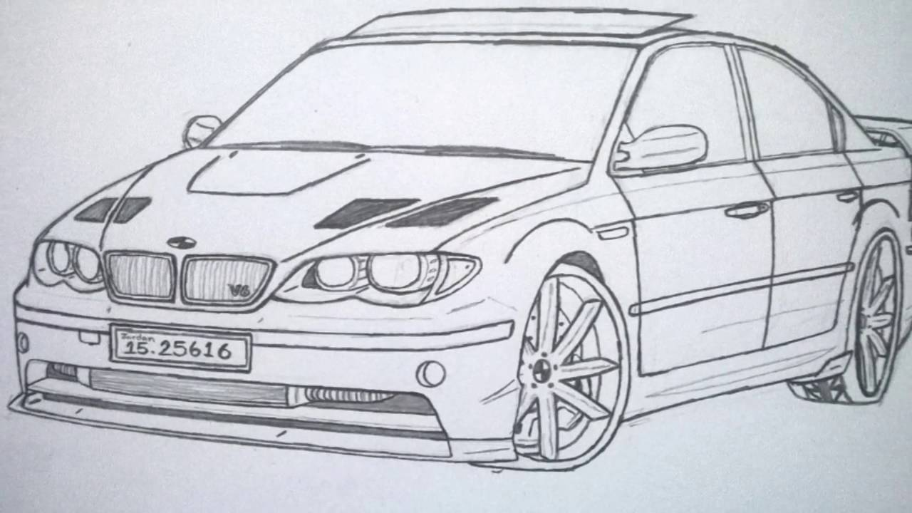 Best car in the world bmw drawing pictures wissam tuning part 2☆