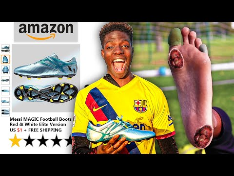 I Bought the WORST Reviewed Football Boots on Amazon.. Lionel Messi Scammed me