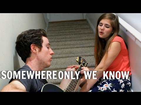 Somewhere Only We Know - Keane Acoustic Cover | Lyrics | (Craig&Olivia Cover)