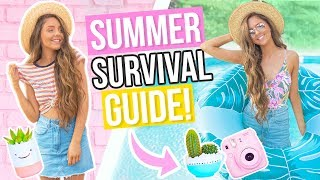 Summer Survival Guide 2017! What To Do, DIY Room Decor, Essentials and Outfits!