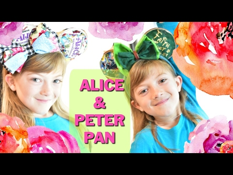 DIY Alice In Wonderland And Peter Pan Mickey Mouse Ears