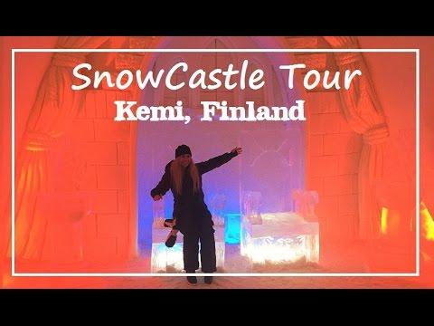 Snow Castle Hotel Tour & Ice Restaurant (Kemi, Finland)