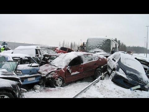 ➤ NEW EPIC Car Crash Compilation Winter / Snow / Fails 2018