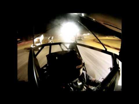 #28 David Forbis heat race in-car cam @ Ark-La-Tex Speedway Oct. 20, 2012