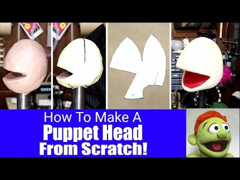 How To Make A Puppet Head Pattern From Scratch! - Puppet Building 101