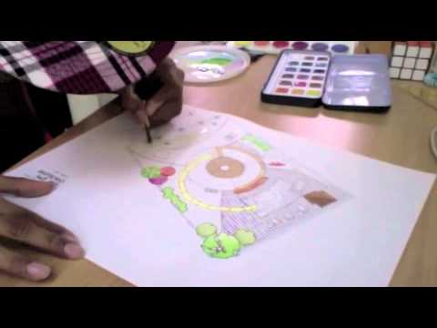 Speedart Rendering a Site Plan with Watercolors YouTube – Rendered Site Plan