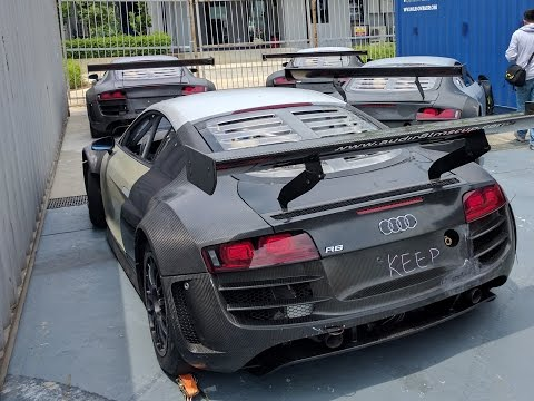 Four Abandoned Audi R8 LMS GT in Audi R8 LMS Cup  ( Malaysia) 2017