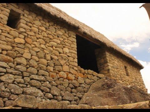 Machu Picchu - Granary and Restored Walls