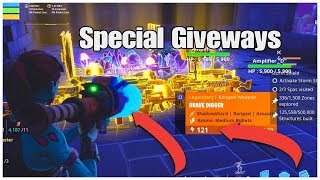 Fortnite STW modded guns&sunbeam Giveway Quick Join!! Last Stream Of The Day