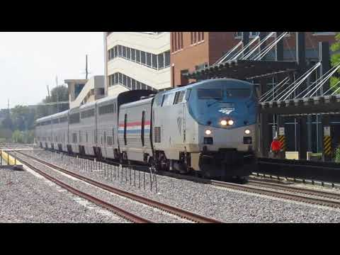 Bloomington-Normal IL Area Rail Action (AMTK, UP) - Aug. 19, 2017