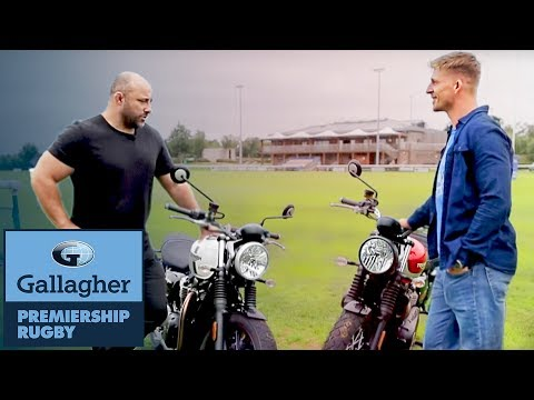 Flats & David Strettle take Triumph Motorbikes for a ride | The Blindside | Gallagher Premiership