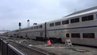 Amtrak Combined #3 and #5 at Joliet, IL