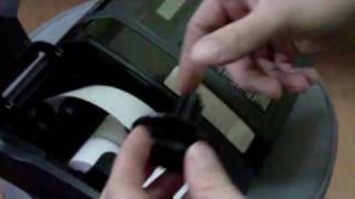 Proces wymiany papieru w kasie fiskalnej Posnet Bingo HS