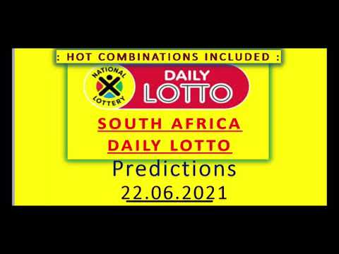 22.06.2021 | SOUTH AFRICA Daily Lotto Predictions for today | BOOM 💥 |