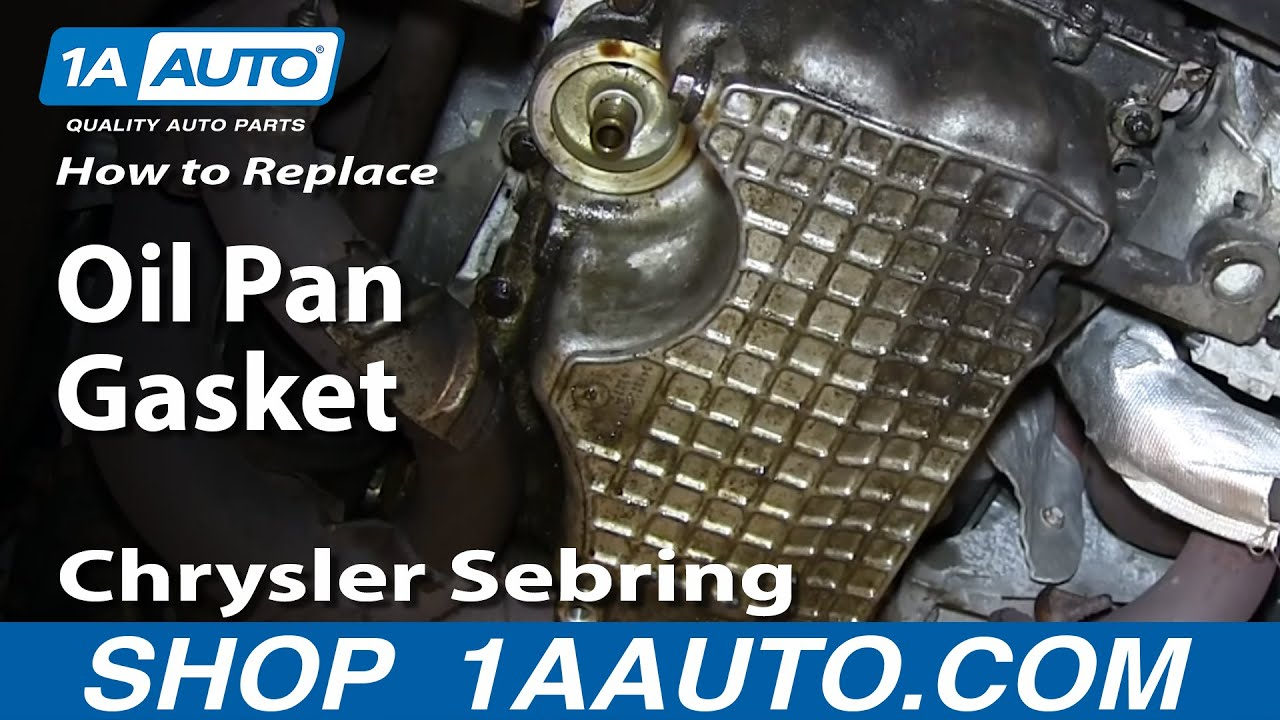 medium resolution of how to install replace leaking oil pan gasket 2 7l v6 chrysler sebring dodge stratus youtube