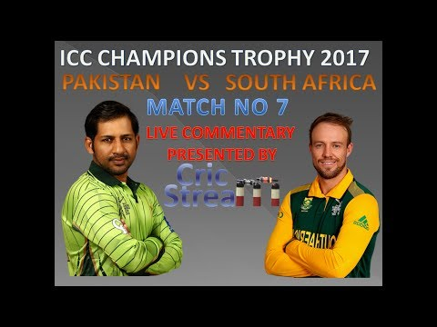 Live: Pak Vs SA ICC Champions Trophy th Match Pakistan Vs South Africa Hindi commentary