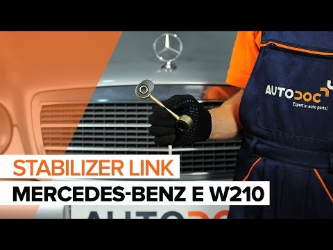 How to replace a Front Anti Roll Bar Link on MERCEDES-BENZ E W210 TUTORIAL | AUTODOC