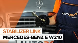 Remove Sway bar links MERCEDES-BENZ - video tutorial