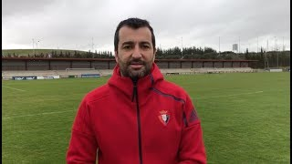 Diego Martínez. Previa Osasuna-Rayo