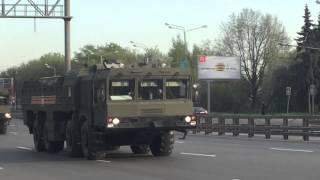 Военная техника уходит из Москвы после Парада Победы