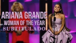 Ariana Grande recibe el premio a Mujer del Año - Women In Music [SUBTITULADO]