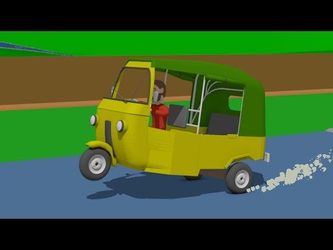 #Tuk-Tuk - Mounting, Putting on and Painting as well as Testing with eggs | cartoon animation |
