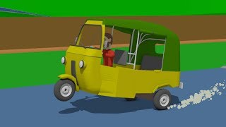 Tuk-Tuk - Mounting, Putting on and Painting as well as Testing with eggs | various ehicles for Kids