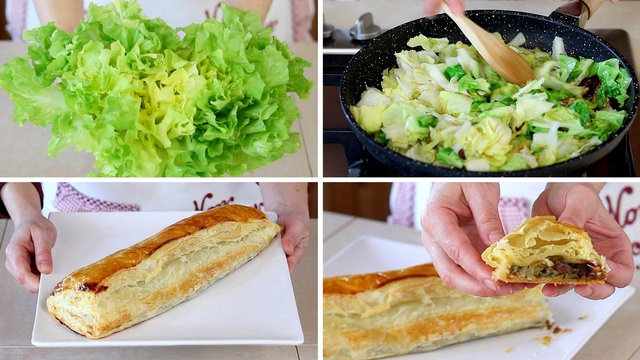 Strudel salato di scarola pinoli e uvetta ricetta facile for Fatto in casa da benedetta 2