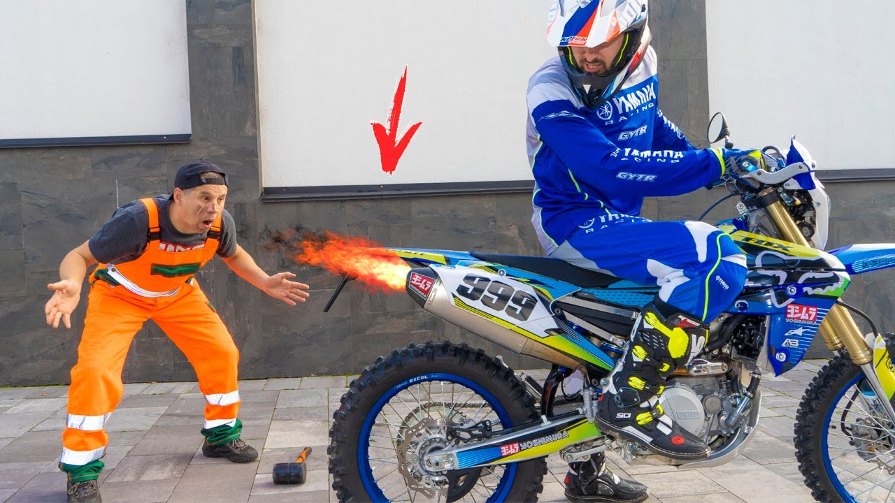 Угробил новый МОЦИК...Broke a new MOTORCYCLE...