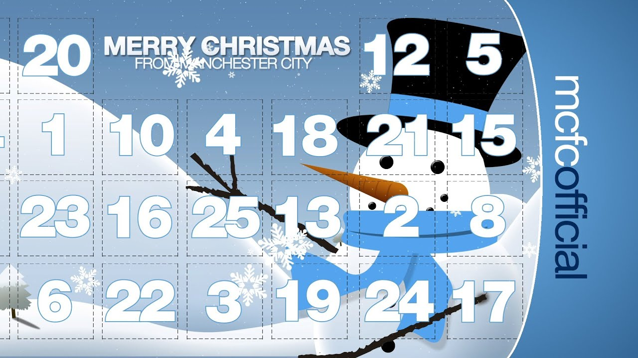the manchester city interactive advent calendar 2013. Black Bedroom Furniture Sets. Home Design Ideas