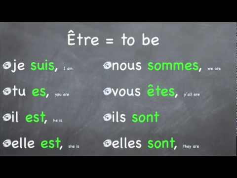 French Verb Song Etre YouTube - YouTube