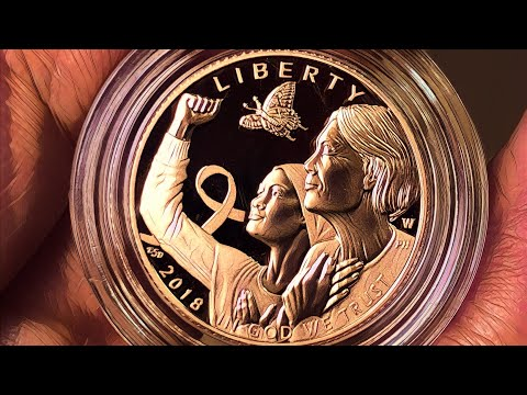 The first pink gold coin arrives from the US Mint | Breast Cancer Awareness