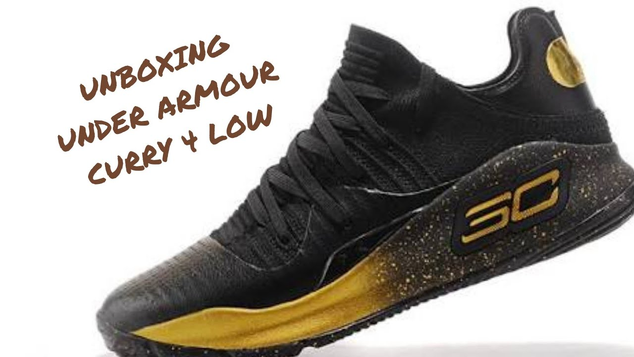 cb829f1c0c0 UNBOXING - UNDER ARMOUR CURRY 4 (EARLY SAMPLE)BLACK GOLD LOW FOR INDIAN SHOE  LOVERS