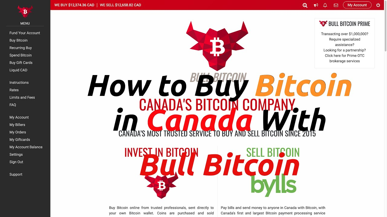 How to Buy Bitcoin in Canada with Bull Bitcoin (Get a FREE $10 Loyalty Credit)