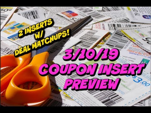 3/10/19 COUPON INSERT PREVIEW | 2 INSERTS W/ EARLY DEALS & PRINTABLE COUPONS!