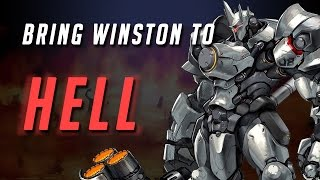 BRING WINSTON TO HELL - Overwatch Beta Highlights #2