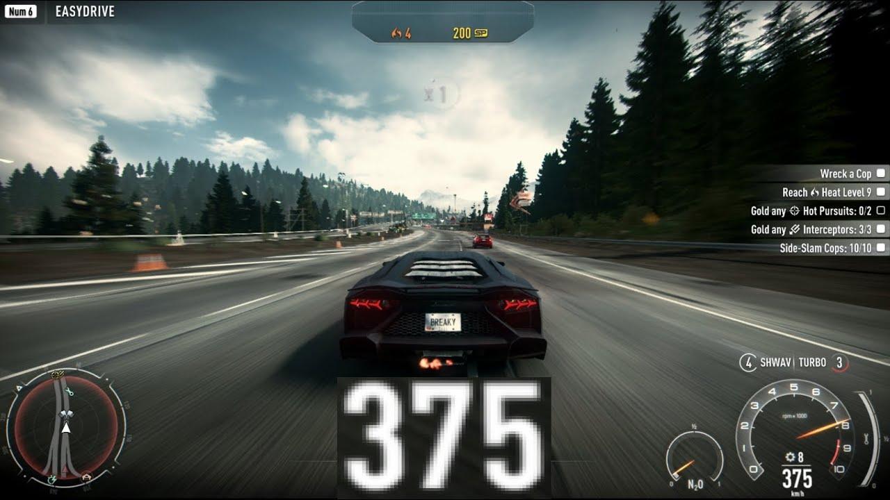 Need For Speed Rivals 375 Km H Lamborghini Aventador