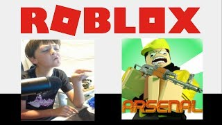 Mini Jordamson Playing Roblox ARSENAL- LIVE