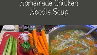 HOMEMADE CHICKEN NOODLE SOUP 🍜 (vlog style) | VLOGTOBER DAY 16