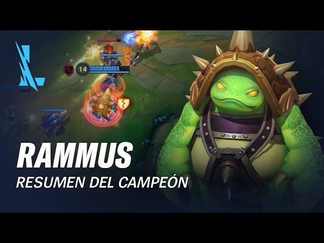 Resumen del campeón: Rammus | Experiencia de juego - League of Legends: Wild Rift