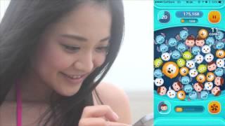 人気急上昇中の美少女「西村麻依」がLINE ディズニーツムツムに挑戦。 ...
