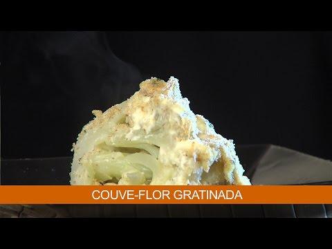 COUVE-FLOR GRATINADA E ARROZ DE FRIGIDEIRA