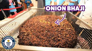 World's largest onion bhaji - Guinness World Records