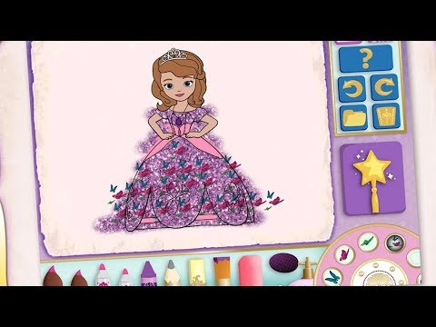 Sofia Princess Color And Play Club House Paint 3D Disney Junior Animated Coloring Book