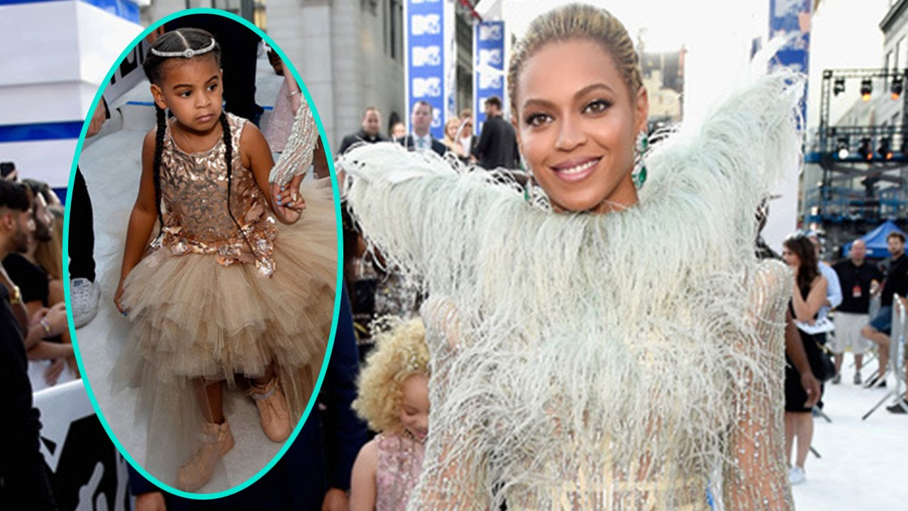 Beyonce and Blue Ivy Carter Shut Down the VMA Carpet in Glamorous ...