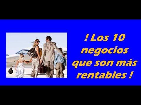 Los 10 Negocios Que Son Mas Rentables Youtube